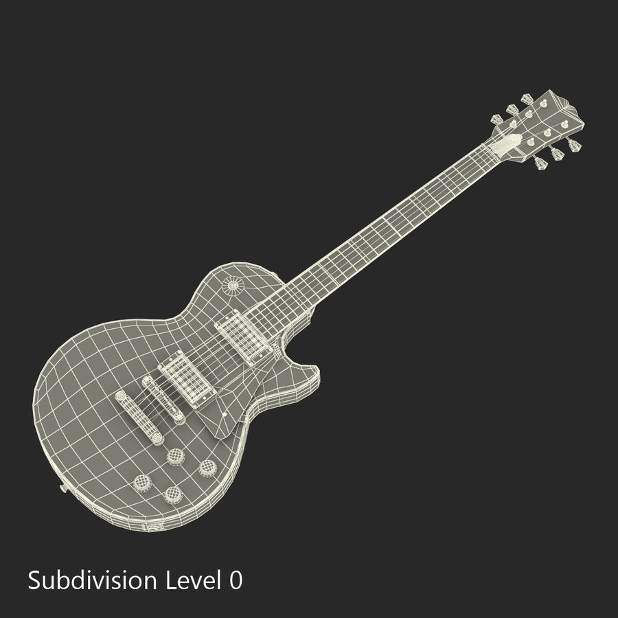 Guitars Collection royalty-free 3d model - Preview no. 63