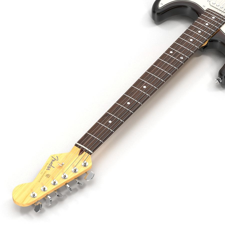 Guitars Collection royalty-free 3d model - Preview no. 43