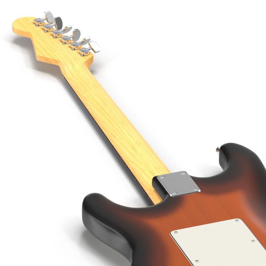 Guitars Collection royalty-free 3d model - Preview no. 47