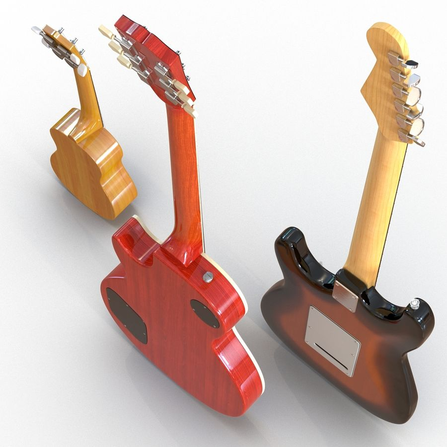 Guitars Collection royalty-free 3d model - Preview no. 6