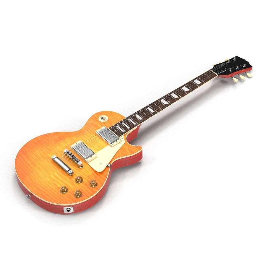 Guitars Collection royalty-free 3d model - Preview no. 19