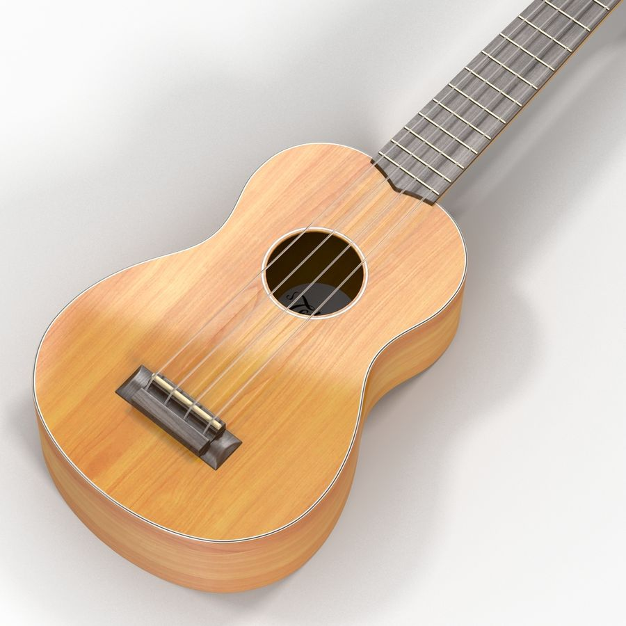 Guitars Collection royalty-free 3d model - Preview no. 53