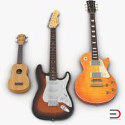 Коллекция гитар 3d model