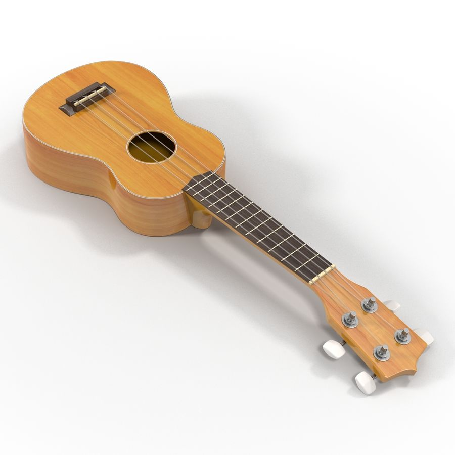 Guitars Collection royalty-free 3d model - Preview no. 52