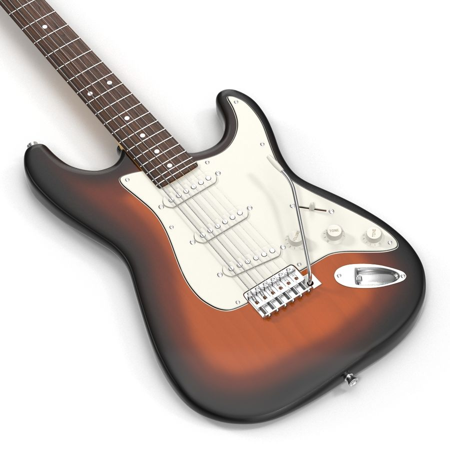 Guitars Collection royalty-free 3d model - Preview no. 42