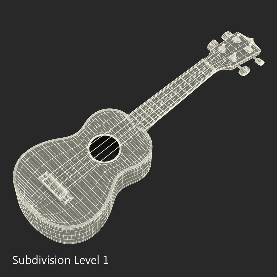 Guitars Collection royalty-free 3d model - Preview no. 68
