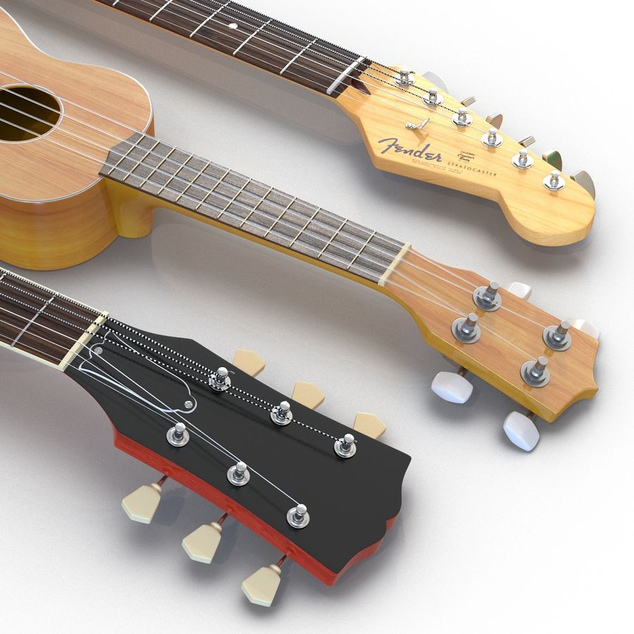 Guitars Collection royalty-free 3d model - Preview no. 11