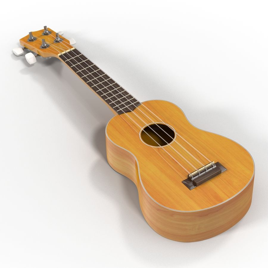 Guitars Collection royalty-free 3d model - Preview no. 50
