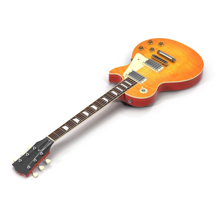 Guitars Collection royalty-free 3d model - Preview no. 21