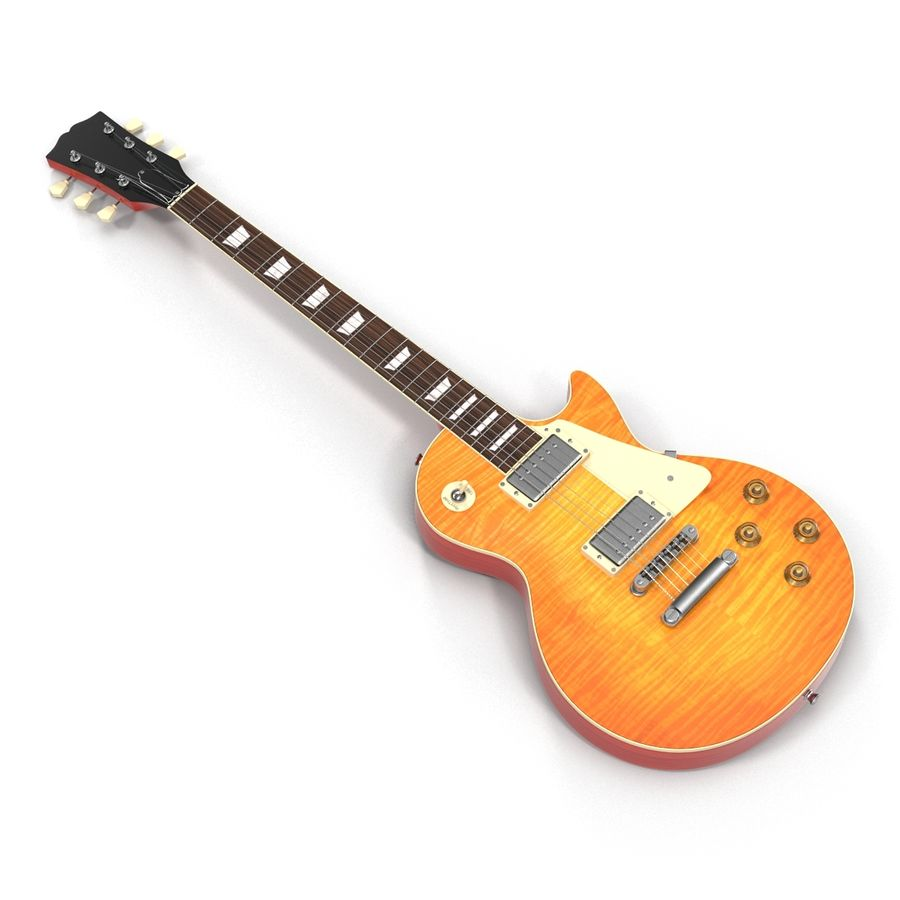 Guitars Collection royalty-free 3d model - Preview no. 20