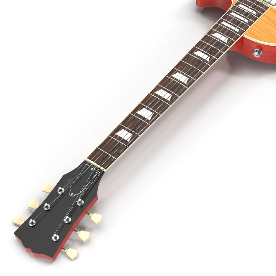Guitars Collection royalty-free 3d model - Preview no. 24