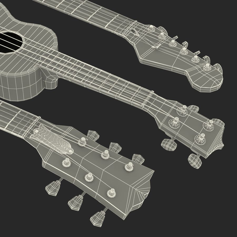 Guitars Collection royalty-free 3d model - Preview no. 75