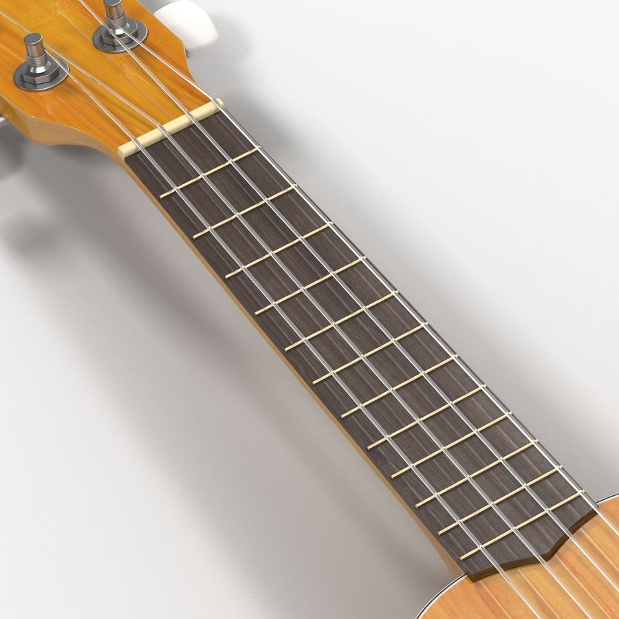 Guitars Collection royalty-free 3d model - Preview no. 56