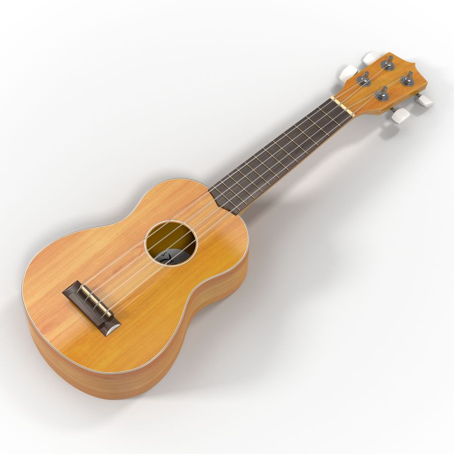 Guitars Collection royalty-free 3d model - Preview no. 48