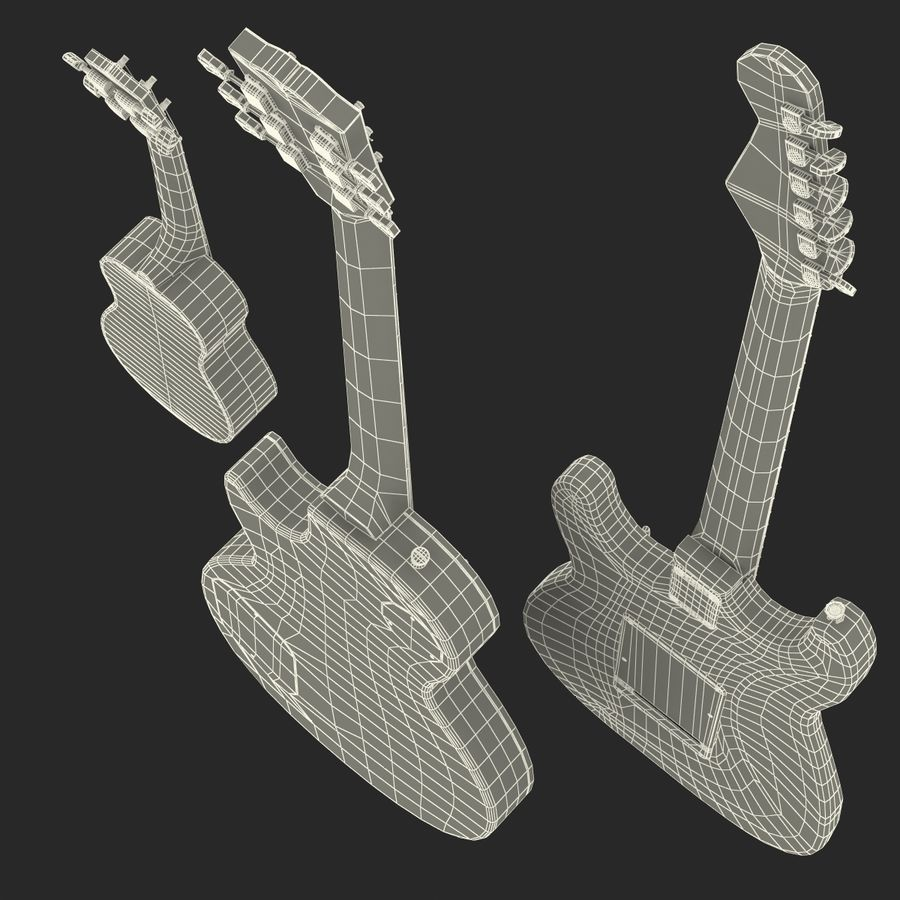 Guitars Collection royalty-free 3d model - Preview no. 79