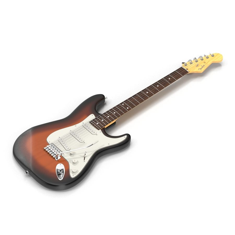 Guitars Collection royalty-free 3d model - Preview no. 38