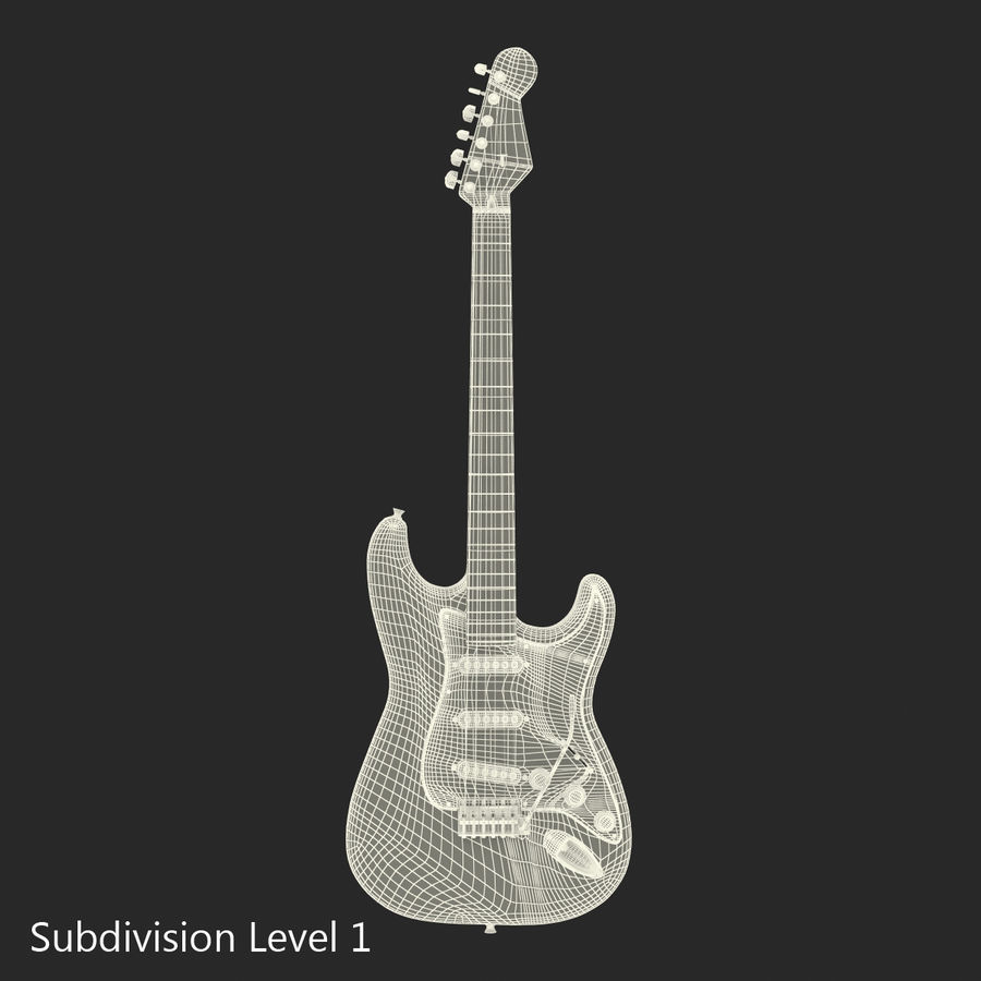 Guitars Collection royalty-free 3d model - Preview no. 66