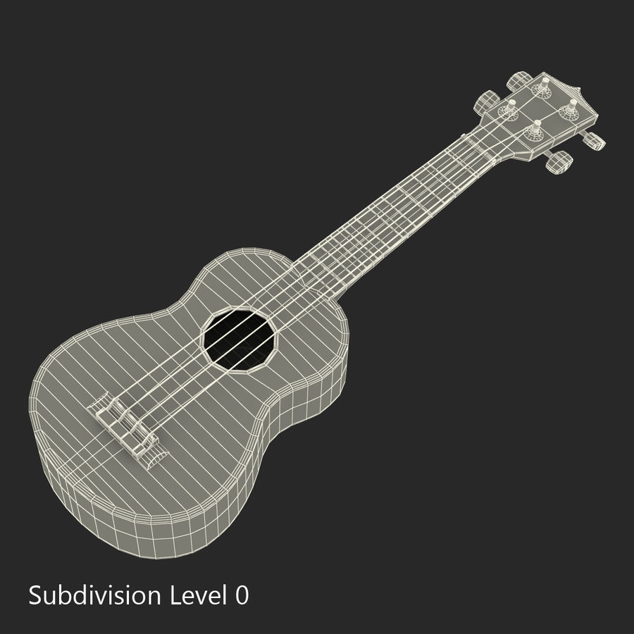 Guitars Collection royalty-free 3d model - Preview no. 67