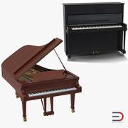 Pianos 3D Models Collection 3d model