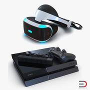 索尼PlayStation 4套装3 3d model