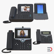 Cisco IP Phones Collection 3 3d model