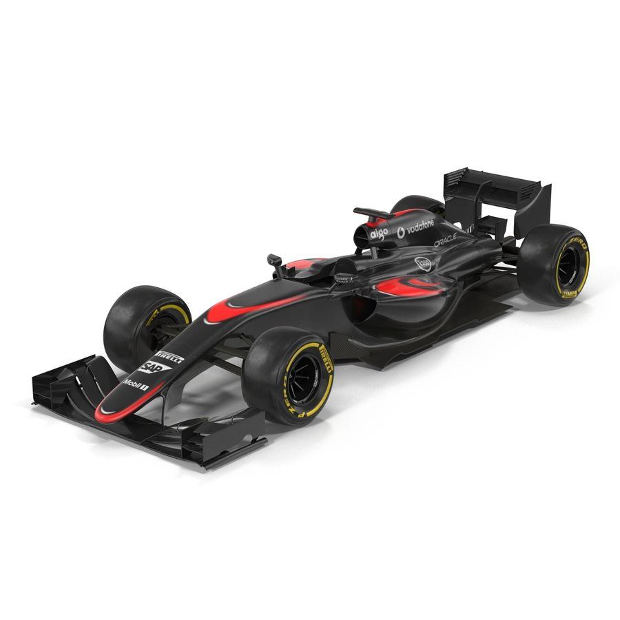 Formule 1 auto royalty-free 3d model - Preview no. 3