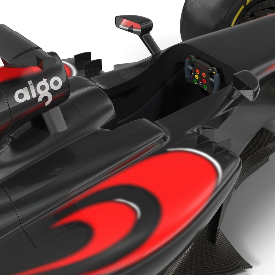 Formule 1 auto royalty-free 3d model - Preview no. 38
