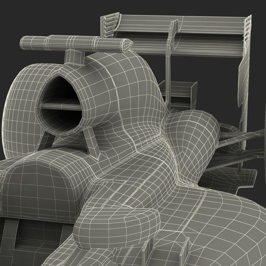 Formule 1 auto royalty-free 3d model - Preview no. 88