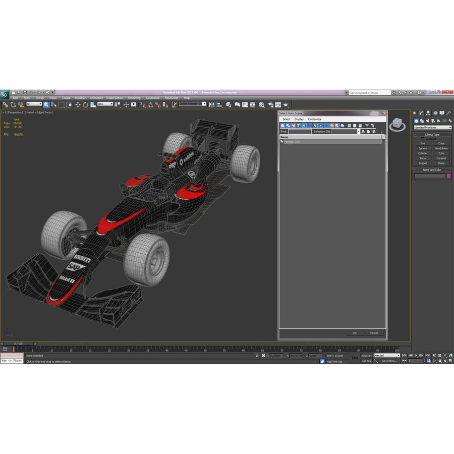 Voiture de Formule 1 royalty-free 3d model - Preview no. 68