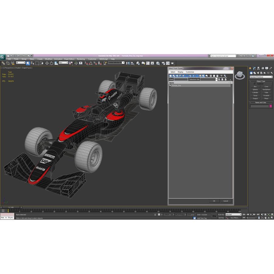 Formule 1 auto royalty-free 3d model - Preview no. 68
