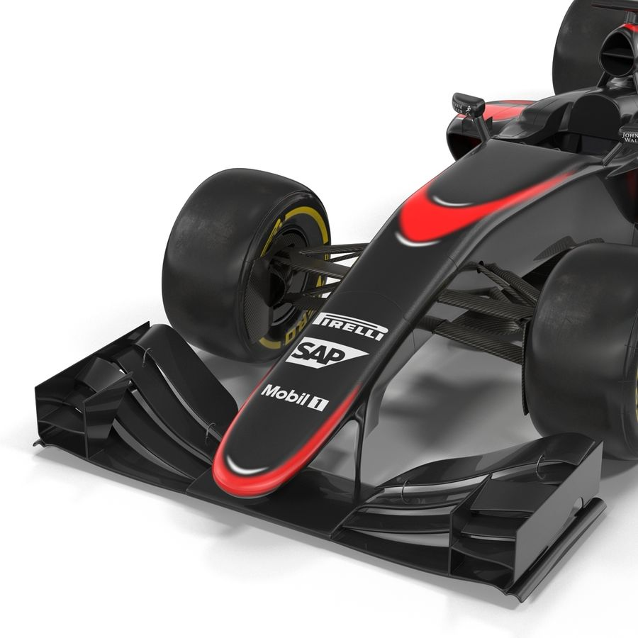 Formule 1 auto royalty-free 3d model - Preview no. 35
