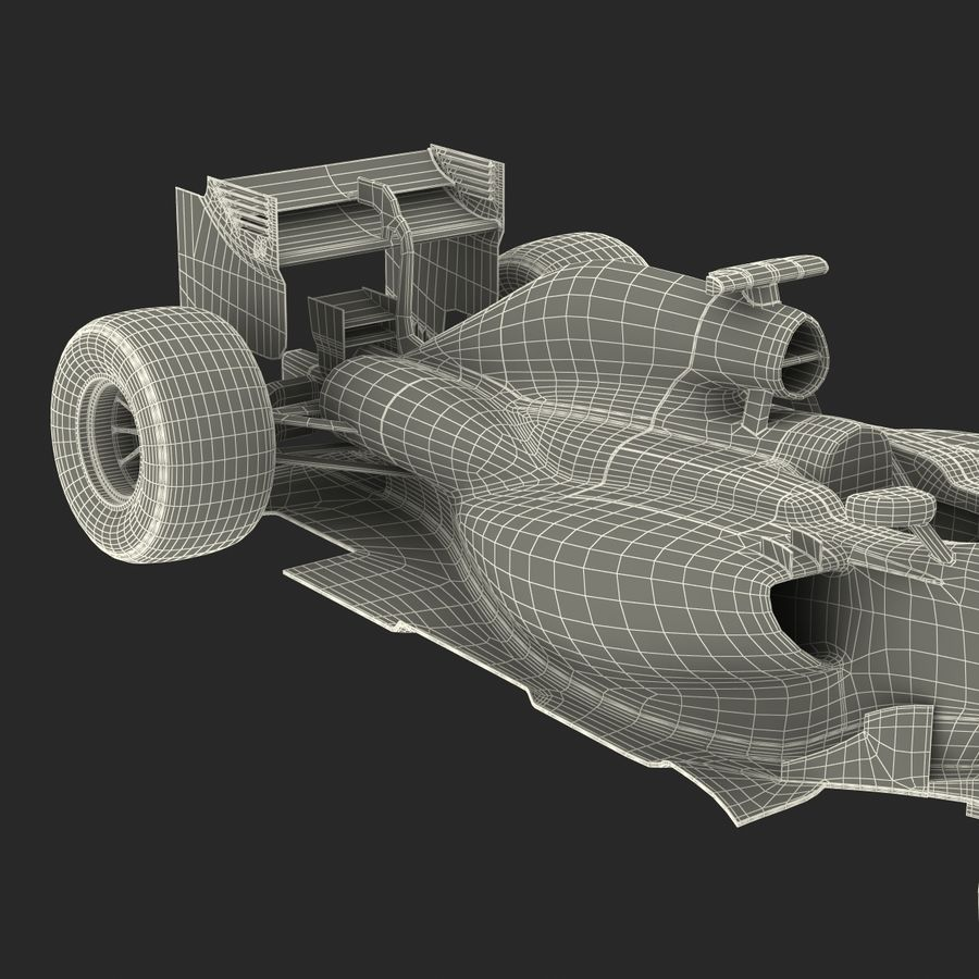 Voiture de Formule 1 royalty-free 3d model - Preview no. 82