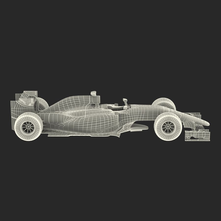 Formel 1-bil royalty-free 3d model - Preview no. 71
