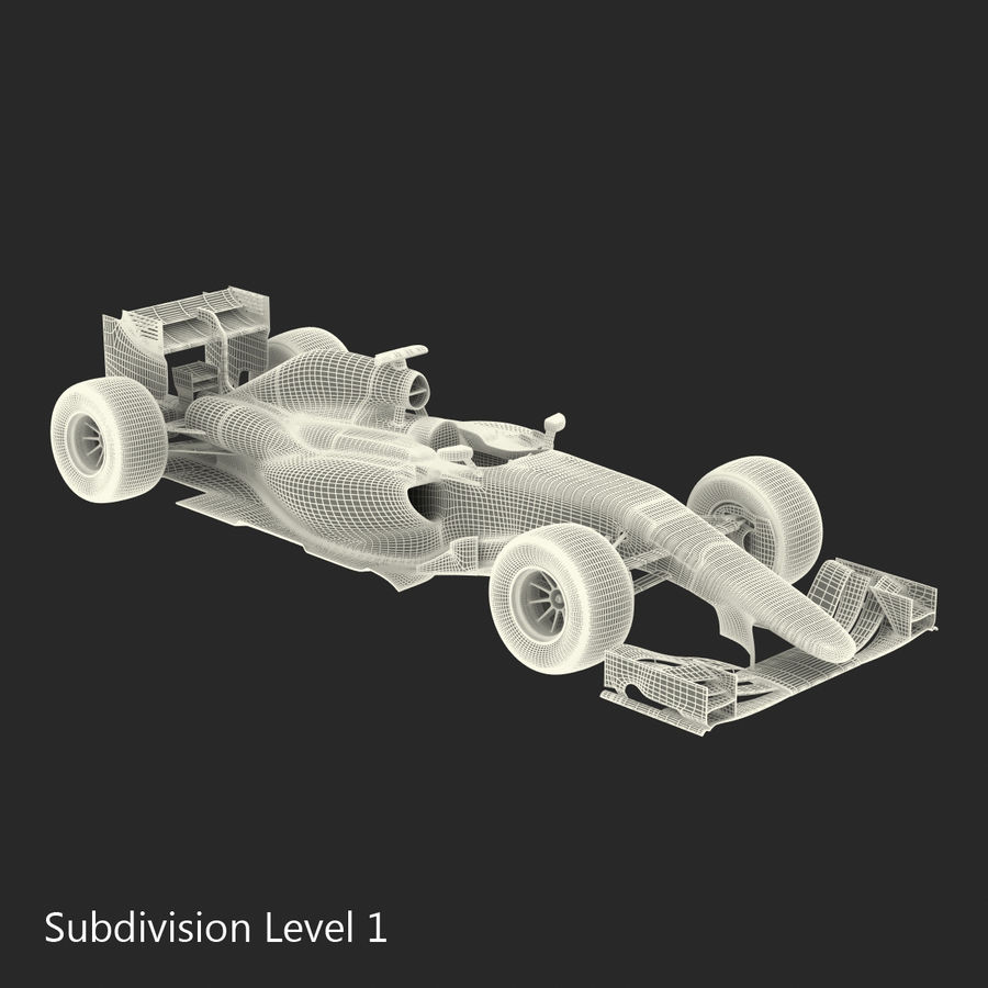 Voiture de Formule 1 royalty-free 3d model - Preview no. 59