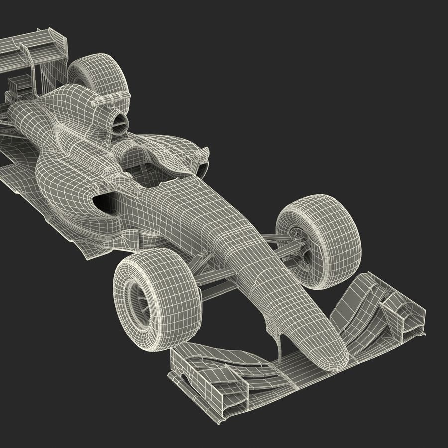 Voiture de Formule 1 royalty-free 3d model - Preview no. 78