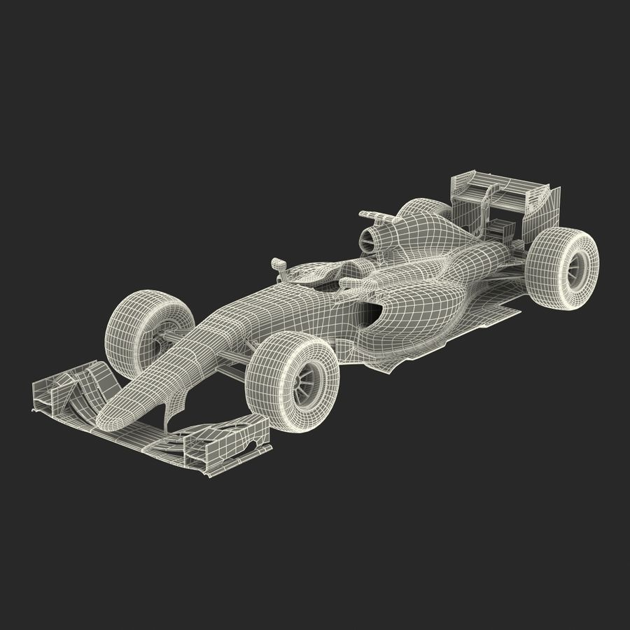 Formule 1 auto royalty-free 3d model - Preview no. 69