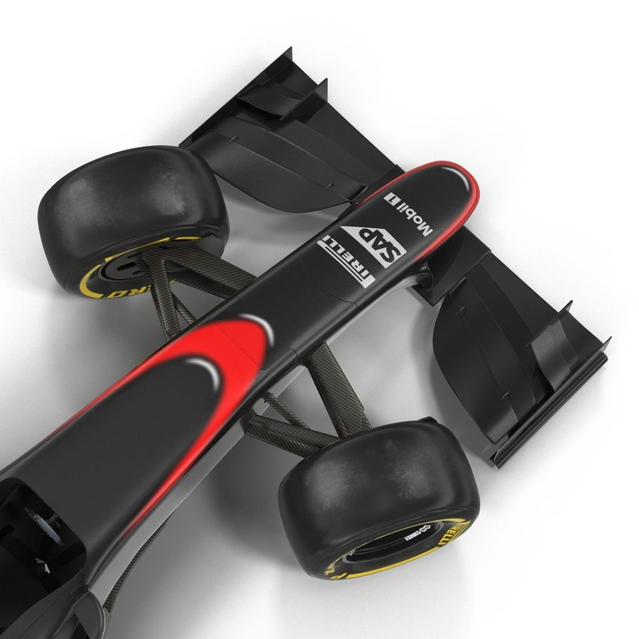 Formule 1 auto royalty-free 3d model - Preview no. 34