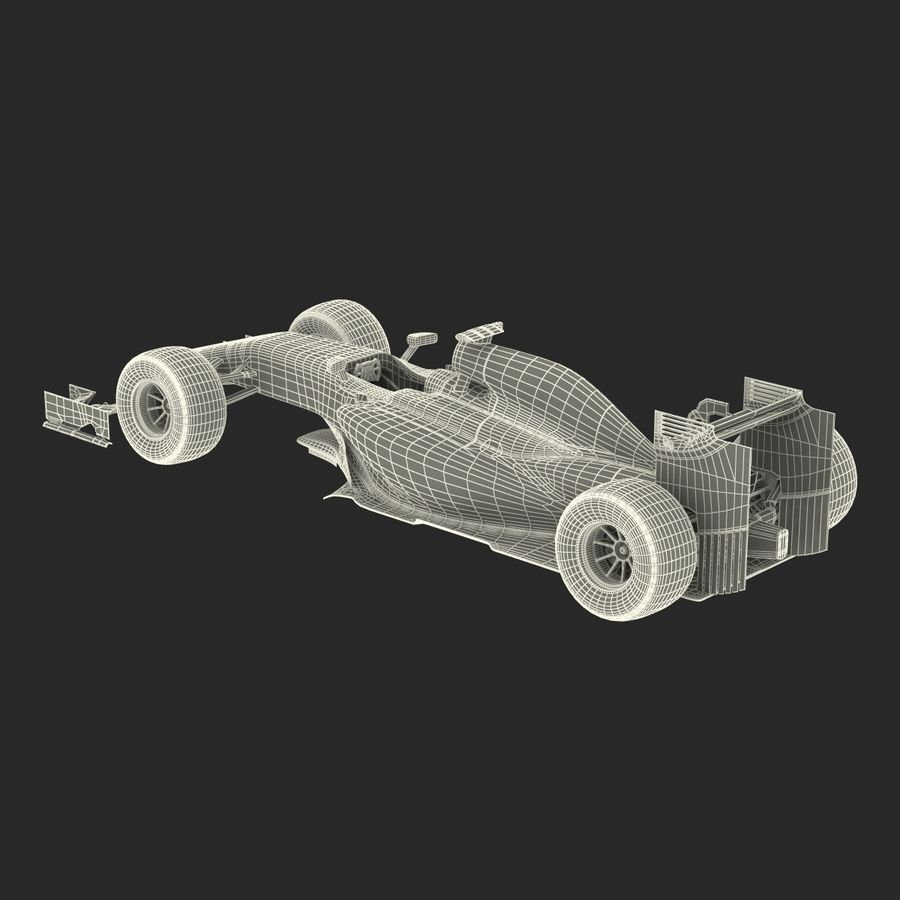 Voiture de Formule 1 royalty-free 3d model - Preview no. 70