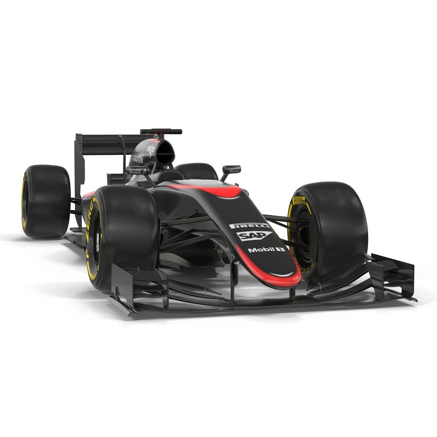 Formule 1 auto royalty-free 3d model - Preview no. 12