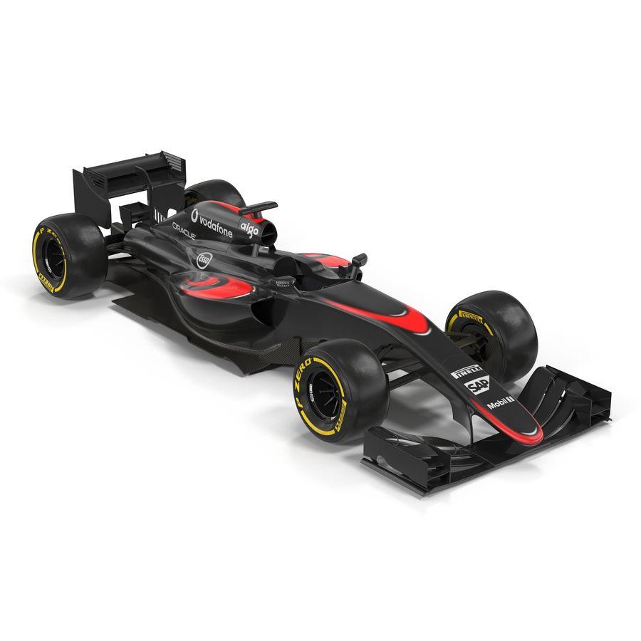 Formule 1 auto royalty-free 3d model - Preview no. 2
