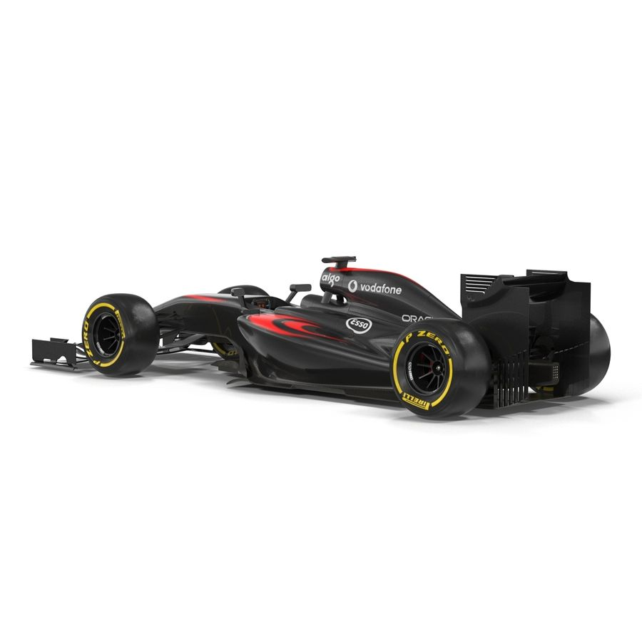 Formule 1 auto royalty-free 3d model - Preview no. 19