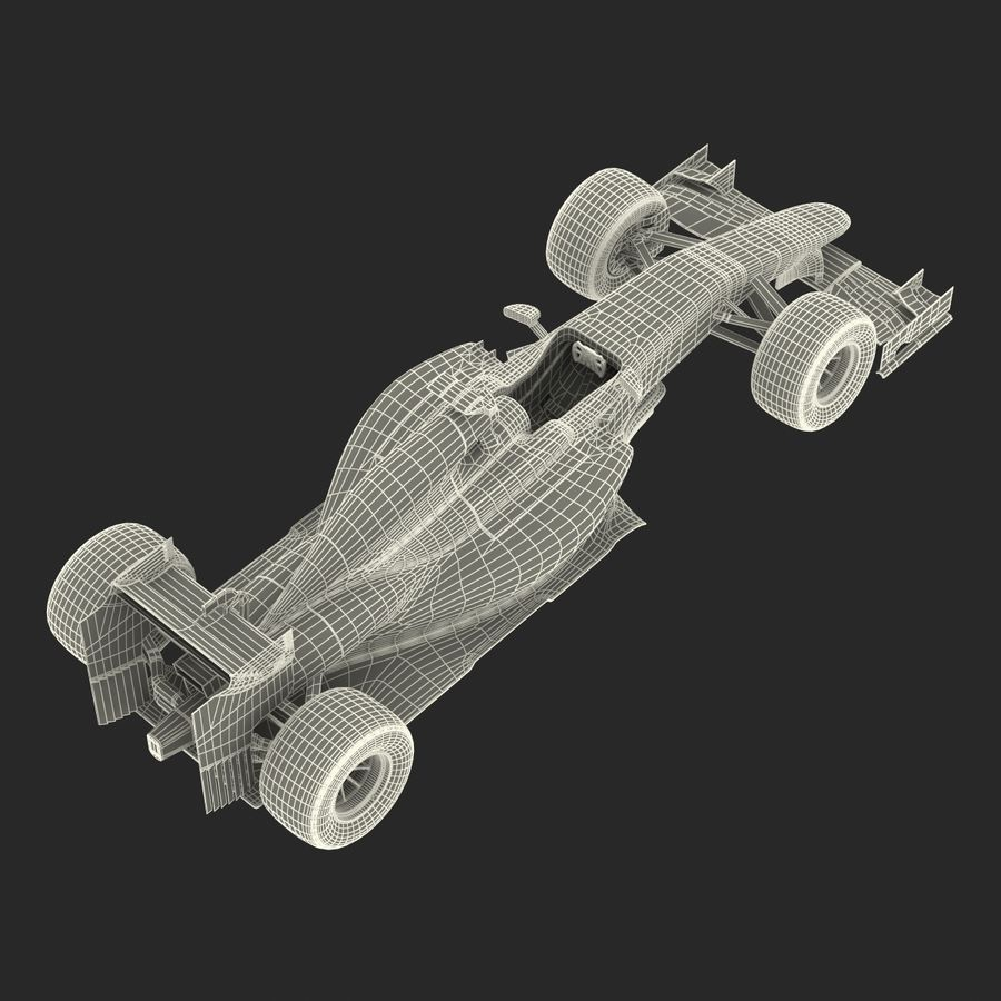 Voiture de Formule 1 royalty-free 3d model - Preview no. 74