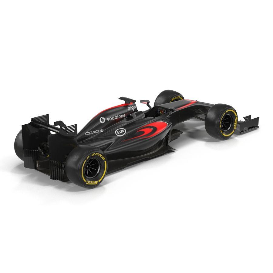 Formule 1 auto royalty-free 3d model - Preview no. 9