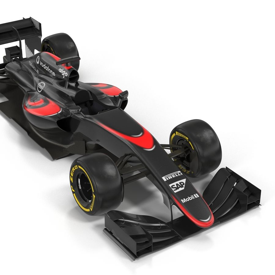 Formule 1 auto royalty-free 3d model - Preview no. 25
