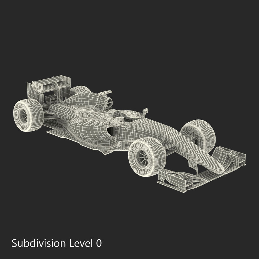 Voiture de Formule 1 royalty-free 3d model - Preview no. 58