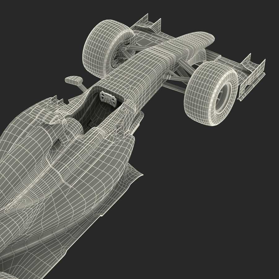 Formule 1 auto royalty-free 3d model - Preview no. 79