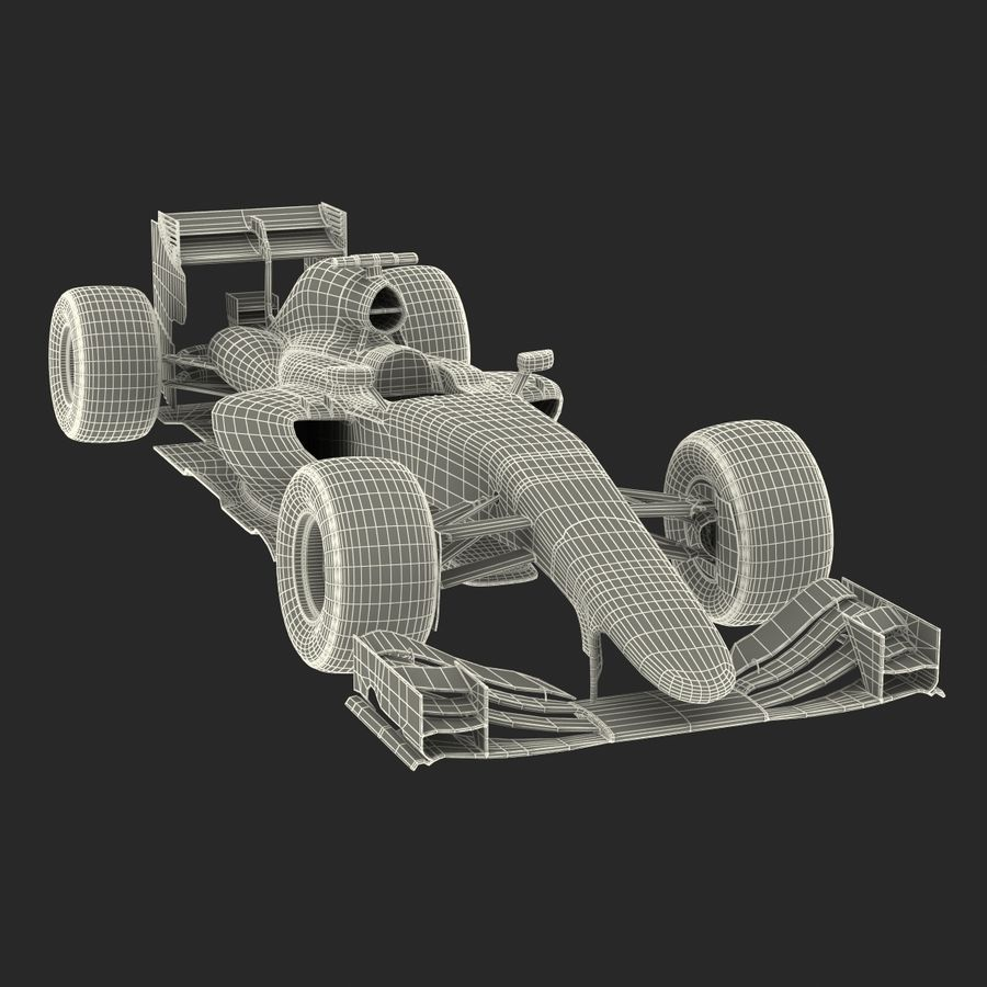 Voiture de Formule 1 royalty-free 3d model - Preview no. 72