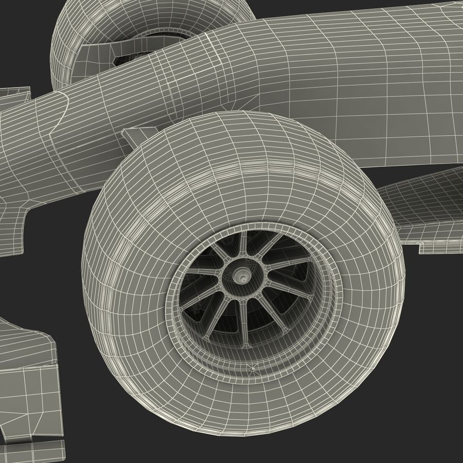 Formule 1 auto royalty-free 3d model - Preview no. 92