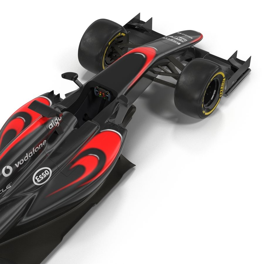 Voiture de Formule 1 royalty-free 3d model - Preview no. 26