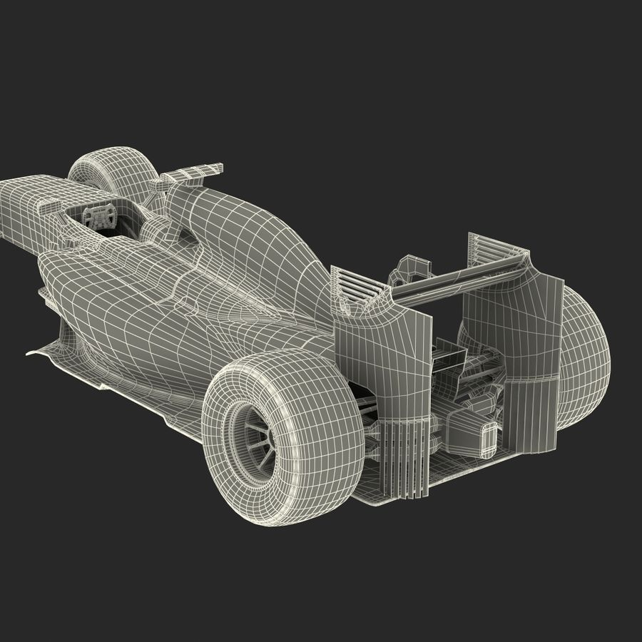 Voiture de Formule 1 royalty-free 3d model - Preview no. 83